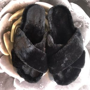 H&M Fuzzy Slippers